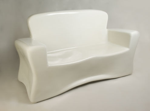 Sofa de fibra de vidrio