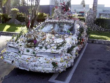 coche navideño